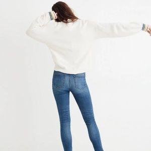 Madewell Sweaters - Madewell | Rainbow-Trim Balloon Sleeve Sweater